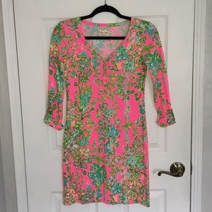 Lilly Pulitzer Pink Floral Dress Size XXS